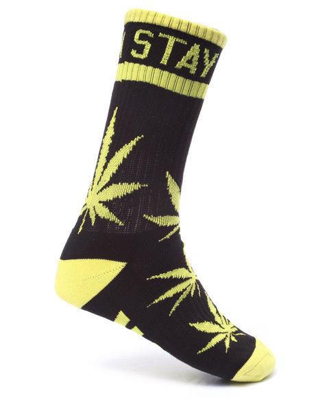 Dgk Men Stay Smokin' Crew Socks Black