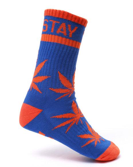 Dgk Men Stay Smokin' Crew Socks Blue - $8.00