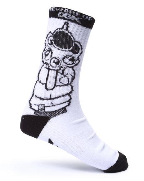 Dgk Men Beware Crew Socks Black