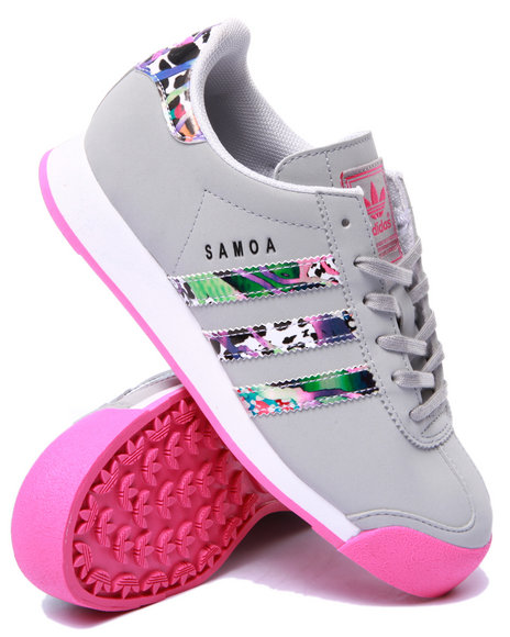 Adidas - Girls Grey Samoa J Sneakers (3.5-7)