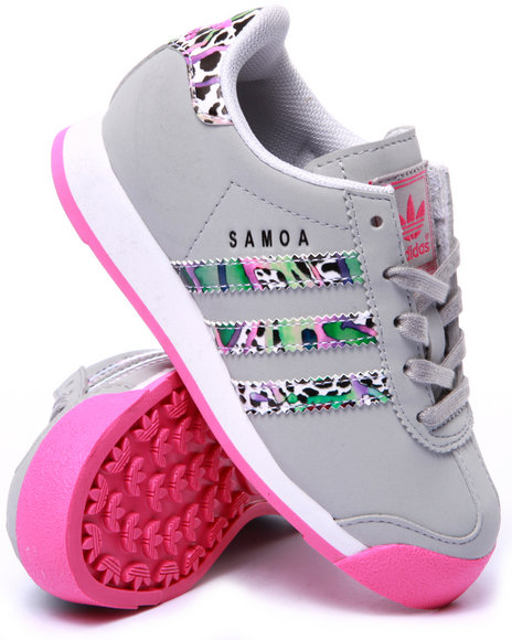 Adidas - Girls Grey Samoa C Sneakers (11-3)