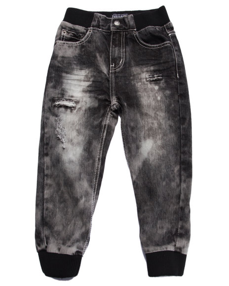 Parish - Boys Grey Snow Wash Jogger Jeans (4-7)