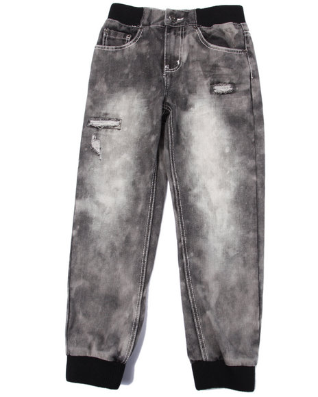 Parish - Boys Grey Snow Wash Jogger Jeans (8-20)