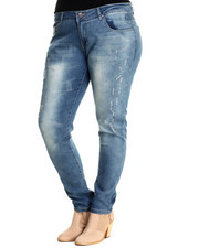 Bottoms - 5 Pocket Jean  (Plus Size)