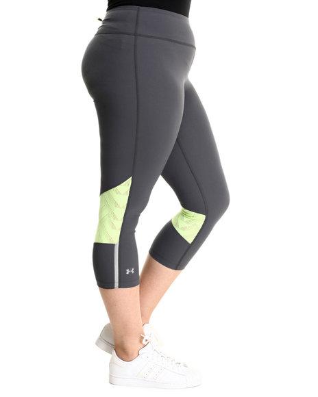 Under Armour Women Ua Armourvent Stretch Woven Capri Grey Large