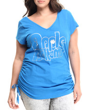 Apple Bottoms - V-Neck Logo Tee w/ Cinched Sides (Plus)