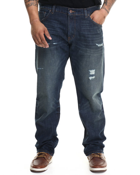 Lrg - Men Medium Wash Core Lrg True Straight Denim Jeans (B&T) - $77.99