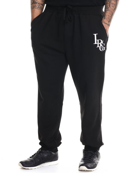 Lrg - Men Black Rc Three Letter Sweatpant (B&T)