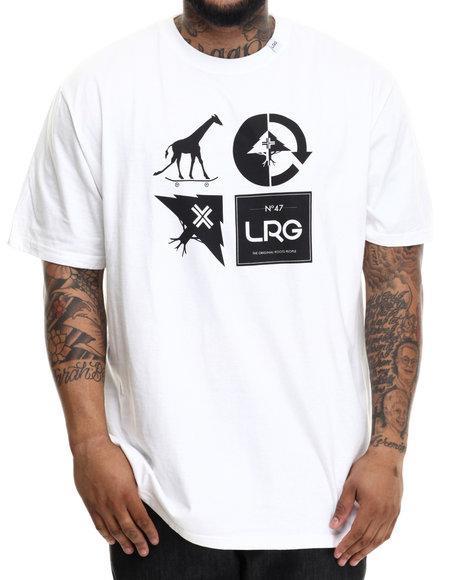 Lrg Men Rc Logo Mash Up T-Shirt (B&T) White 3X-Large - $28.00