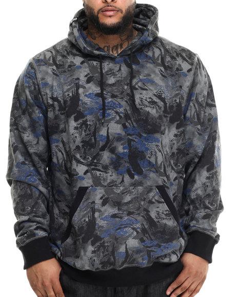 Lrg - Men Black,Grey Combat Pullover Hoodie (B&T)