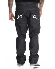 Regular - R Script Flap Jeans