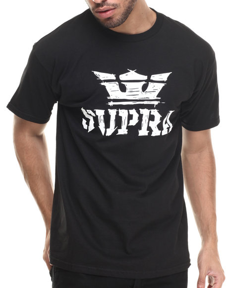 Supra - Men Black Above Scratch Tee