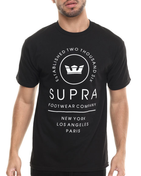 Supra - Men Black Global Tee