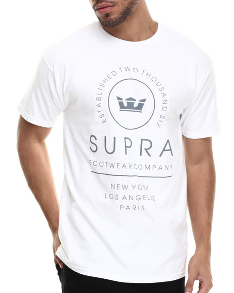Supra - Men White Global Tee