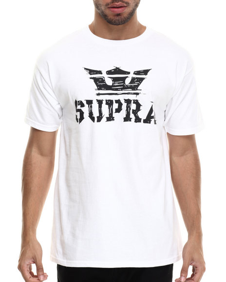 Supra - Men White Above Scratch Tee