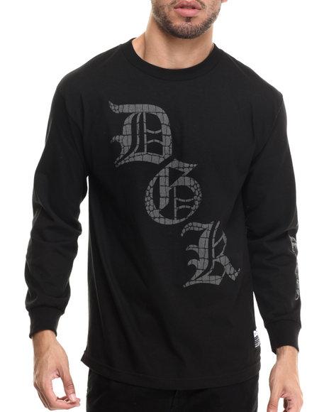 Dgk - Men Black Croc'd L/S Tee