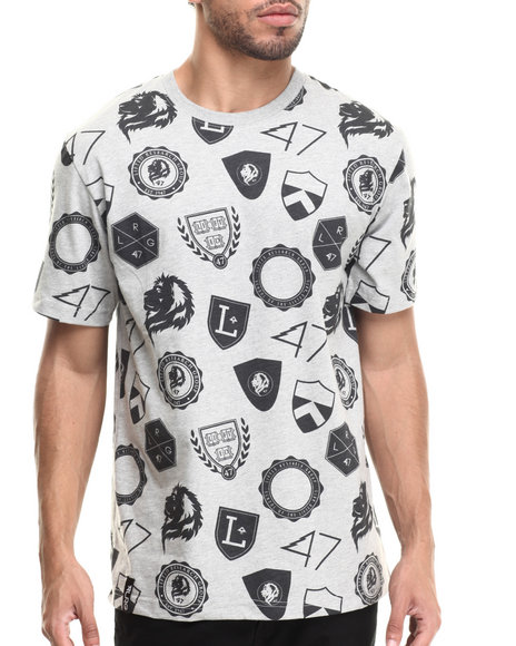 LRG - Men Grey All Over Knit T-Shirt