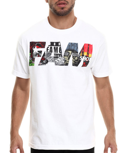Famous Stars & Straps - Men White Fill Up Mens Tee