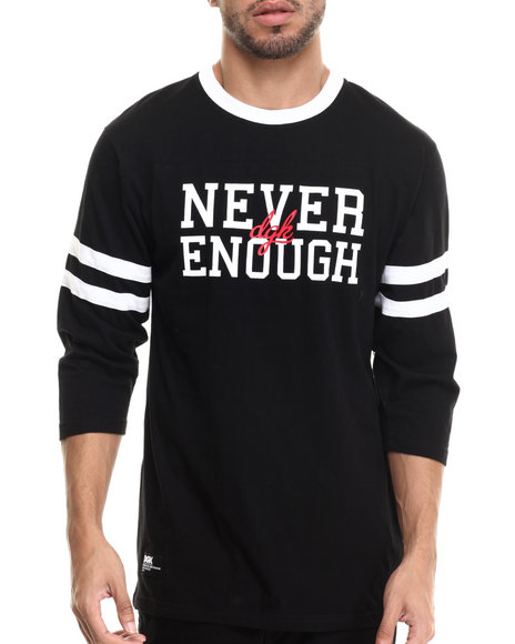 Dgk - Men Black Never Enough 3/4 Sleeve Jersey