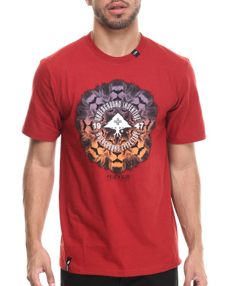 LRG - Men Red Lion Chamber T-Shirt