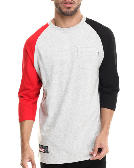 Dgk - Men Grey Always Four-20 3/4 Sleeve Jersey