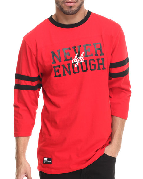 Dgk - Men Red Never Enough 3/4 Sleeve Jersey