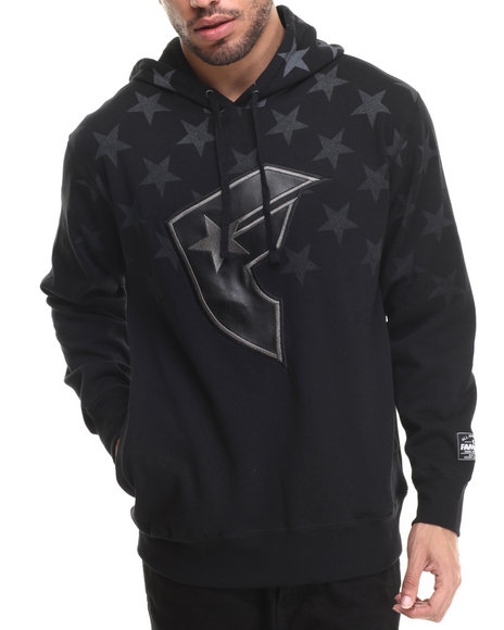 Ur-ID 214020 Famous Stars & Straps - Men Black Constellation Pullover Fleece