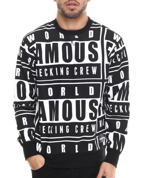 Famous Stars & Straps - Men Multi Wrecking Crewneck Fleece