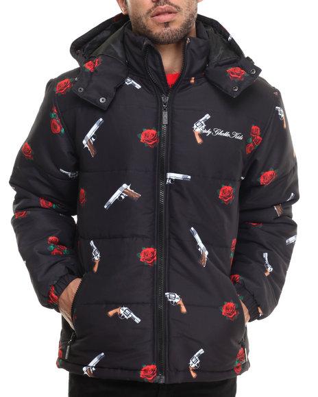 Dgk - Men Black Yin And Yang Puff Jacket
