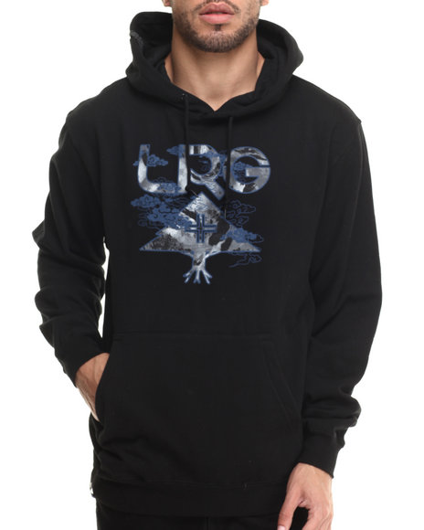 Lrg - Men Black Destroy Tree Pullover Hoodie