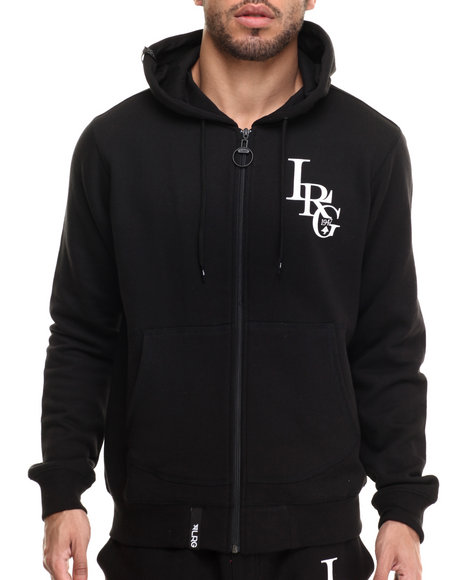 Lrg - Men Black Rc Three Letter Hoodie