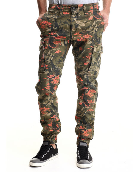 Lrg - Men Green Research & Destroy Cargo Jogger Pant