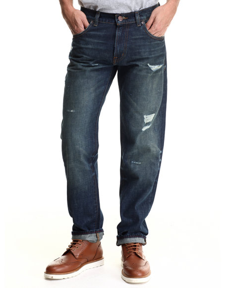 Lrg - Men Medium Wash Core Lrg True Straight Denim Jeans