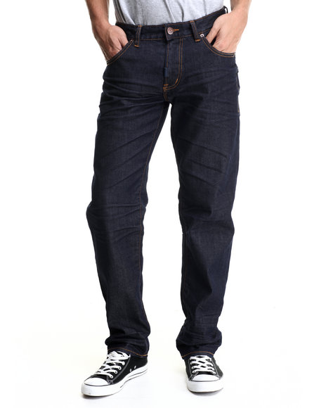 Lrg - Men Dark Wash Core Lrg True Straight Denim Jeans
