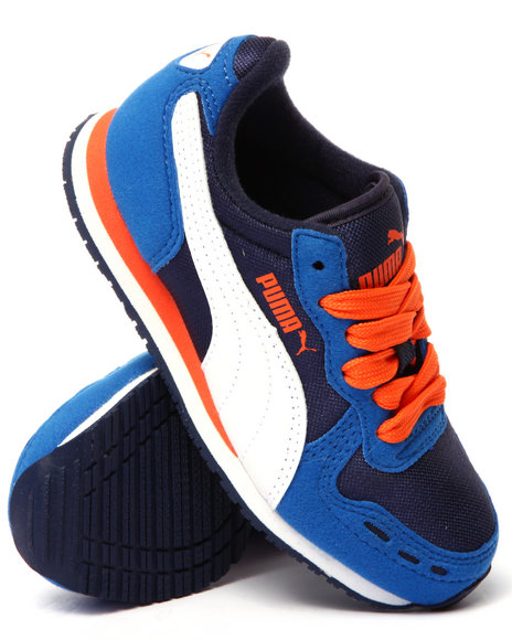 Puma - Boys Blue Cabana Racer Mesh Jr Sneakers (11-7)
