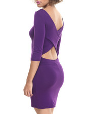 Fashion Lab - Kimberly Knitted Dress w/ Cross Back