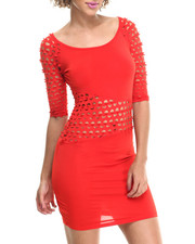 Fashion Lab - Ladies' Knitted Laser Cut Dress