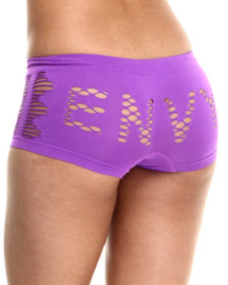 Baby Phat - Women Purple Envy Cutout Seamless Boy Short