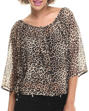 Fashion Tops - Gia Woven Gergote Top