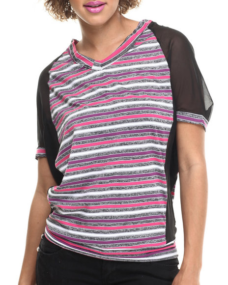 Ur-ID 214106 Fashion Lab - Women Multi Clarissa Knitted Strip Top