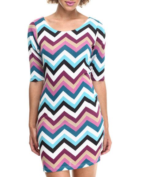Fashion Lab - Women Multi Diana Knitted Hacci Dress