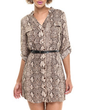 Fashion Lab - Hailey Woven Rayon Challis Printed Dress
