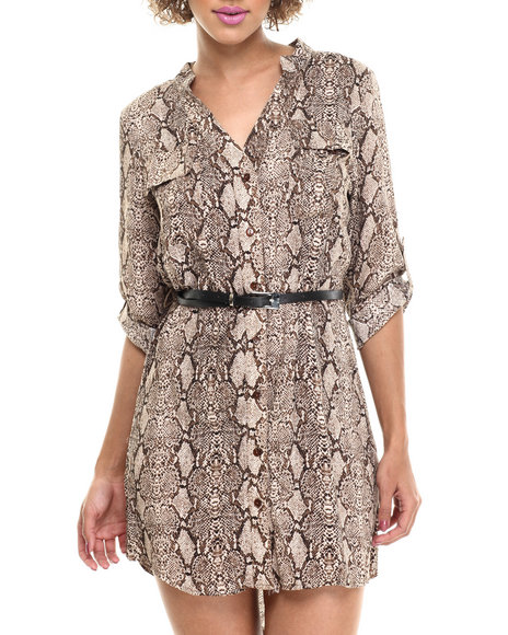 Fashion Lab Brown Print Dress