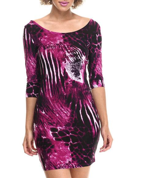 Ur-ID 214132 Fashion Lab - Women Pink Yannie Knitted Dress