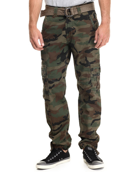 Buyers Picks - Men Camo Cargo Twill Pants