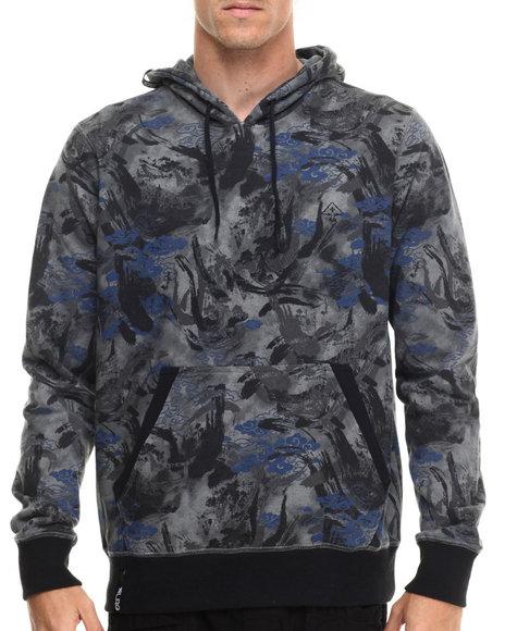 Lrg - Men Black,Grey Combat Pullover Hoodie