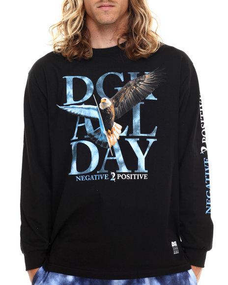 Dgk Men Pigeon 2 Eagle L/S Tee Black Large - $30.00