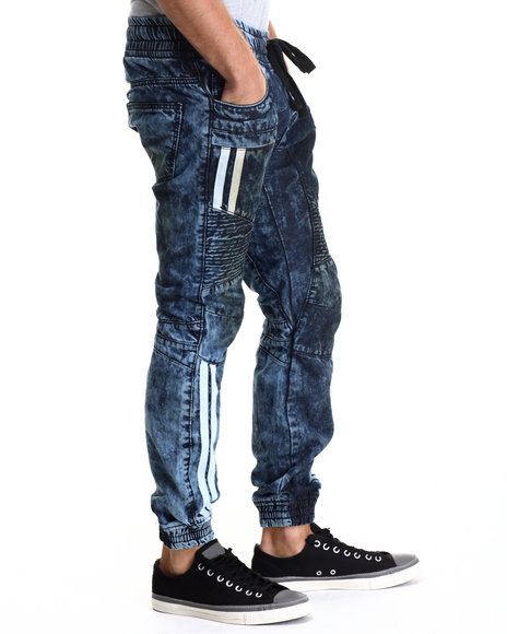 Buyers Picks - Men Dark Wash Ath - Leisure Fashion Denim Joggers