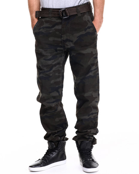 Buyers Picks - Men Olive Chino Twill Pants