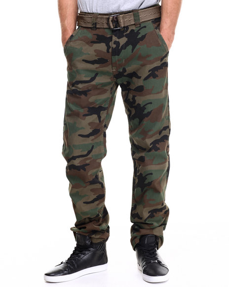 Buyers Picks - Men Camo Chino Twill Pants